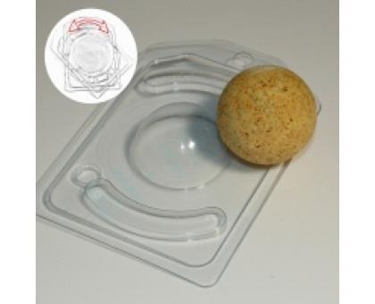 Полусфера D50, с позиционированием, форма для мыла (Бомбочек) пластиковая 2 шт