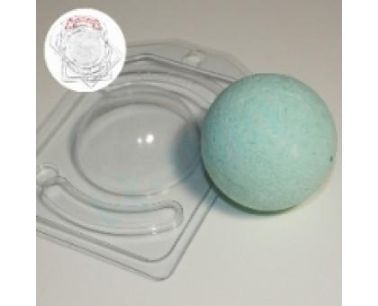 Полусфера D65, с позиционированием, форма для мыла (Бомбочек) пластиковая 2 шт