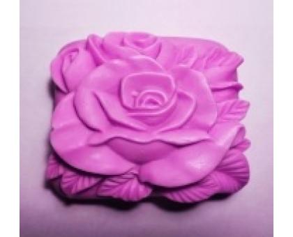 Роза 1 2D А, форма для мыла силиконовая