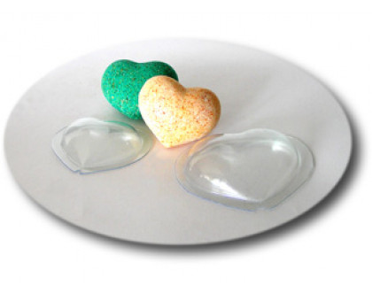Сердце Малое, комплект из 2 форм, форма для мыла пластиковая (бомбочек) пластиковая