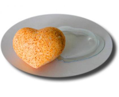 Сердце Большое, комплект из 2 форм , форма для мыла(бомбочек) пластиковая